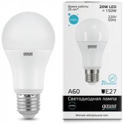 Лампа Gauss LED Elementary A60 20W E27 в ассортименте
